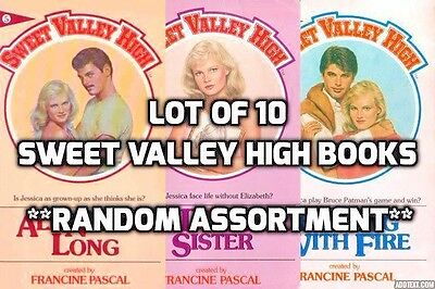 Lot of 10 Sweet Valley High books random titles *mix unsorted* Ships free!