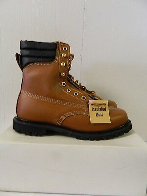 c0b04a7a596 SEARS MENS WORK Boots Leather Upper, Oil Resistant Insulated 11D NEW
