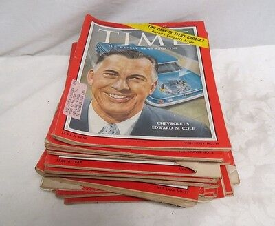 Lot of 28 Vintage Time Weekly Magazines Years 1959-1961