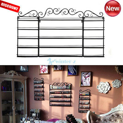 5 Tier Metal Wall Mounted Nail Polish Rack Organizer Holder Display Shelf UK