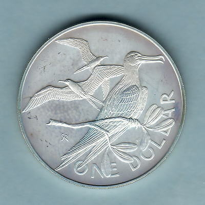 British Virgin Islands.  1977 1 Dollar.. Silver Proof