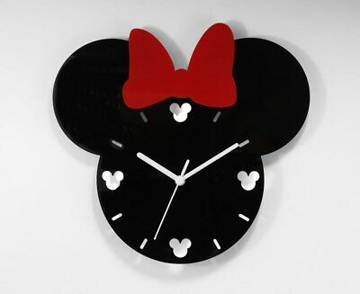 Minnie Mouse Mickey Mouse Inspired Wall Clock Custom Design Fan Art