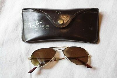 Ray-Ban RB3024 Aviator Sunglasses Gold / Brown w. case