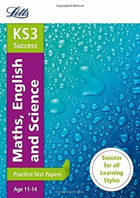 Maths, English and Science: Practice Test Papers (Letts Key Stage 3 ... by Letts