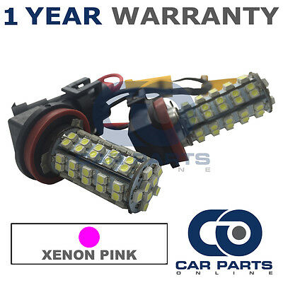 2X Canbus Pink H8 60 Smd Led Fog Light Bulbs For Bmw 5 7 Series X1 Mini Clubman