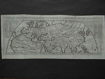 1743 Atlas map old World - Europe Africa Asia