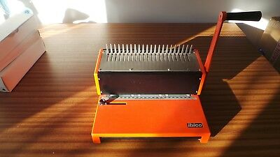 Ibico manual A4 comb/punch/ring/spiral binding machine red with spare combs