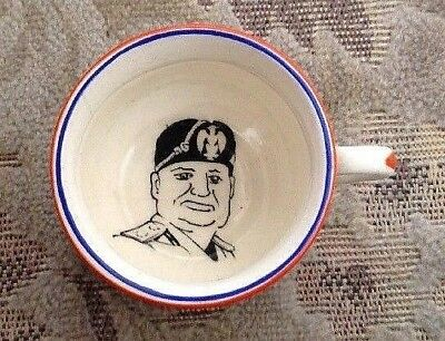 Fieldings Crown Devon Propaganda Ware Miniature Mussolini Potty