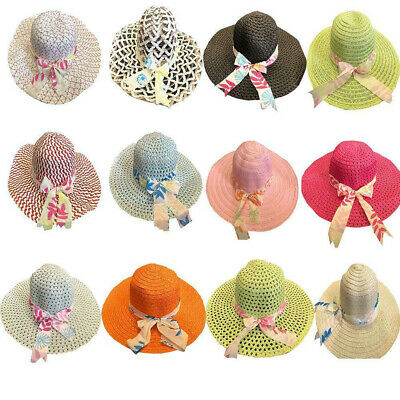 50pcs Ladies Summer Beach Hat Wide Brim Straw Hat Holidays Wholesale Resellers