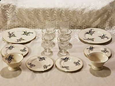 VINTAGE 'Lily of the Valley' 14 Piece Luncheon Set for Two ~ Gorgeous Set