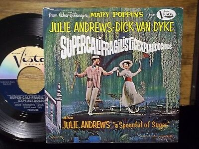 """Julie Andrews & Dick Van Dyke (From """"mary Poppins"""") 45 Ps"""