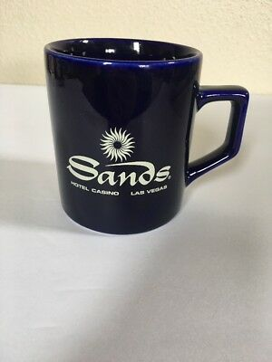 Sands Hotel Casino Las Vegas Nevada Blue Logo Coffee Cup Mug