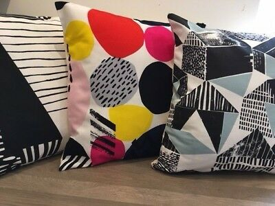 "Swedish Designed Abstract 16"" Square Cushion Covers in Cotton Fabric"