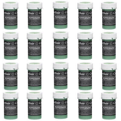 30 x Sugarflair PEPPERMINT GREEN Pastel Edible Food Cake Icing Colour Paste 25g