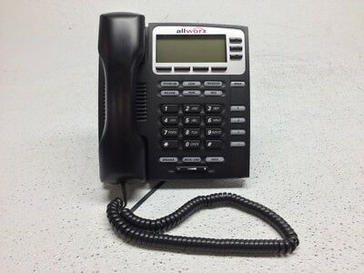 Allworx 9204 VoIP Display IP Phone w/Handset and Stand - Tested, FACTORY RESET