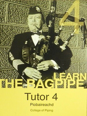 Highland bagpipe tutor piobraireachd book 4 free cd rom college of piping pipes