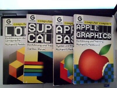4X Apple GRAPHICS - BASIC - LOGO - SUPERCALC Computer Compact  Peddicord / Shrum