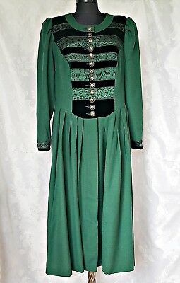 Perry Landhaus Tyrol Oktoberfest Dirndl Wool Blend Women's Dress-Size:us16/Eu44