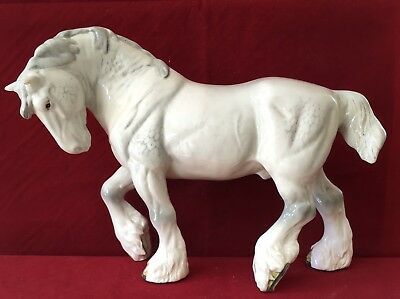 Stunning Beswick Large Grey Action Shire