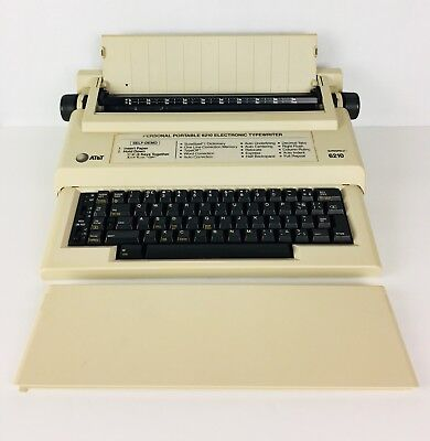 AT&T Model 6210 Electronic Typewriter With Manual Tested Works