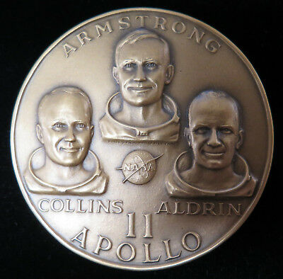 "Medallic Art Co. NY. Apollo 11 First Lunar Landing 2.5"" Bronze Medal"