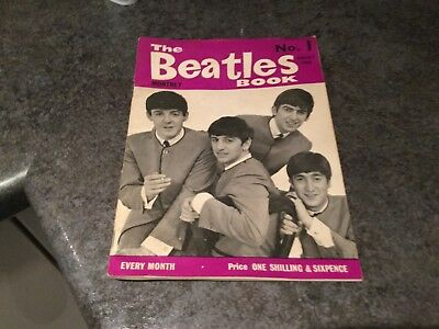Original BEATLES BOOK MONTHLY Magazine No.1 August 1963 Very Good Condition