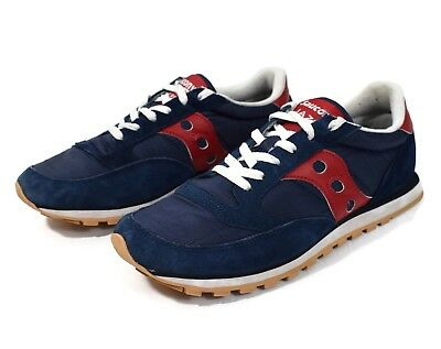 a145fbc6e5d8 Saucony Jazz Low Pro Womens Shoes Size 9 Running Cross Training Blue Red GUC