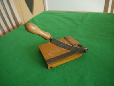 Superb Working Vintage Paper/card 5'' Wooden Guillotine Paper Cutter