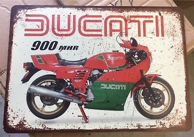 DUCATI MHR Classic Motorcycle advertising Sign, direct print ACM panel
