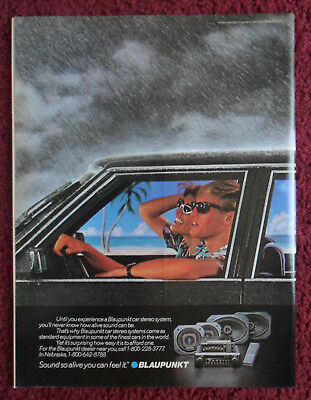 1985 Print Ad BLAUPUNKT Car Stereo System ~ Sound So Alive You Can Feel It RAIN