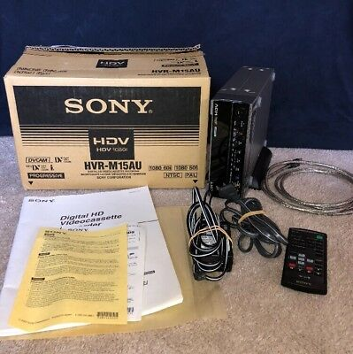 VERY NICE Sony HVR-M15AU Digital HD Recorder 1080i MiniDV DVCAM with Accessories