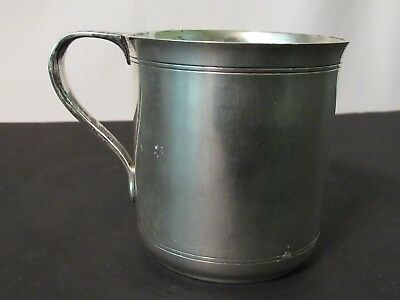 """Authentic Tiffany & Co Sterling Silver Monogrammed Mug """"Victoria"""" Childs Cup"""