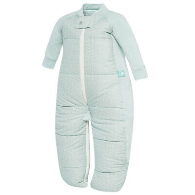ErgoPouch Baby Sleep Suit Bag Swaddle 2-12m/3.5 TOG/Organic Cotton Mint Leaves