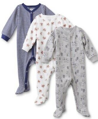 NWOT LOT OF (3) BABY BOY 1pc. SLEEP N' PLAY PAJAMAS ~ MULTIPLE SIZES AVAILABLE