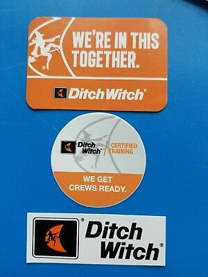 3 Different DITCH WITCH Union Equipment Hardhat Mining Oilfield Stickers NLIP