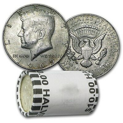 $100 Face Value - 40% Silver Kennedy Half Dollars - Average Circulated