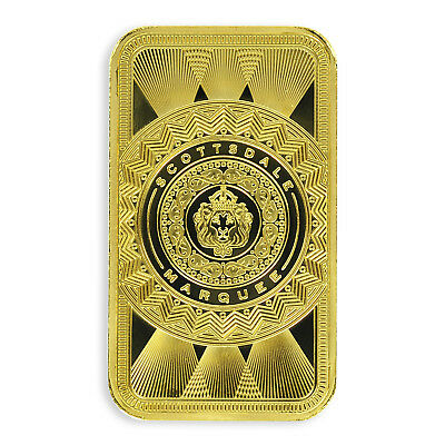 SPECIAL PRICE! 1oz .9999 Gold Bar Scottsdale Marquee in Certi-Lock #A453