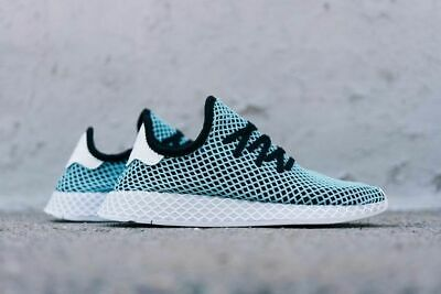 purchase cheap bac36 21ea9 Adidas Originals Deerupt Runner Parley Black Blue Mens Sneakers Lifestyle  CQ2623