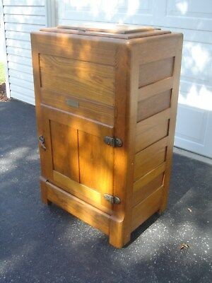 "Antique Oak Ice Box ""SANITARY"" ""FREE"" Drop Off or Delivery up to 250 miles"