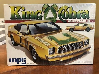 MPC KING COBRA MUSTANG II 1/25 scale model car kit NEW FACTORY SEALED