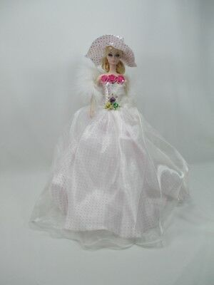 Clearance Barbie Doll Handmade Outfit Gown Dress Royalty scarf and hat 600-5