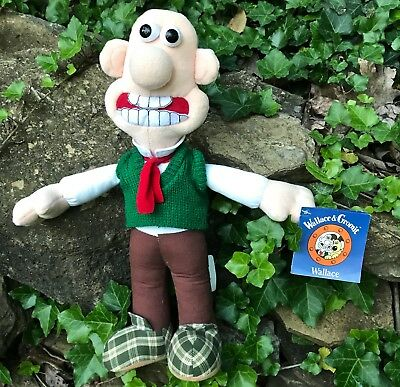 """* 14"""" Wallace Doll * From Wallace & Gromit * New Condition * New With Tags *"""