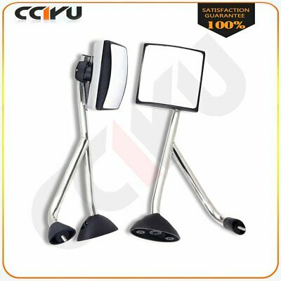 For 02-18 International Truck Hood Mirrors Chrome Manual L+R Pair side ASSEMBLY