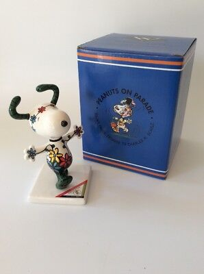 "FREE SHIP, Snoopy, Peanuts On Parade, ""Snoopy In Flowers"" NIB, FREE SHIP"