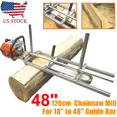 """Fit 14"""" - 48"""" Chainsaw Guide bar Chain Saw Mill Log Planking Lumber Cutting USA"""