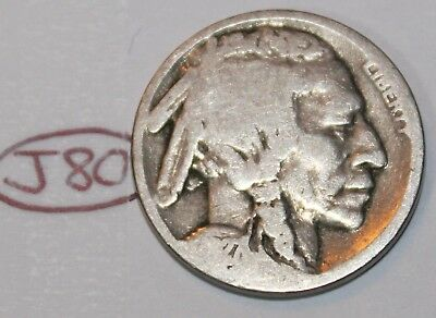United States 1927 Buffalo Nickel USA Indian 5 Cents Coin Lot #J80