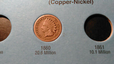 Near Complete Indian Head Cent Set, 37 Different Issues