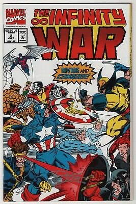 Infinity War #2 NM signed by artist Ron Lim w/certificate Thanos Avengers movie