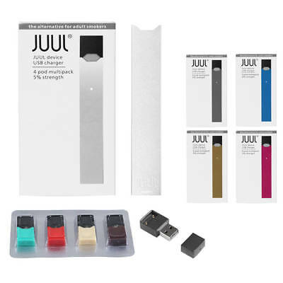 JUUL V3 - NEW JUUL Starter Kit Electronic Vaporizer 4PCS Flavor JUUL DECAL PODS