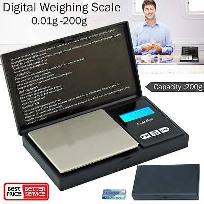 0.01g – 100/200g Digital Pocket Weighing Mini Scales For Jewlery Gold Kitchen